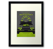 No183 My Back to the Future minimal movie poster-part III Framed Print