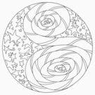 Stars N Stripes Mandala - Paint your own Shirt! by TheMandalaLady