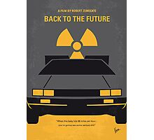 No183 My Back to the Future minimal movie poster Photographic Print
