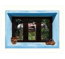 Window Into Greece 2 Art Print