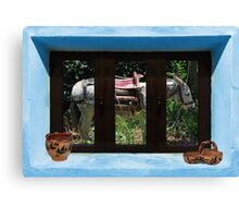 Window Into Greece 2 Canvas Print