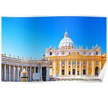Rome, Italy - St Peters Basilica Poster