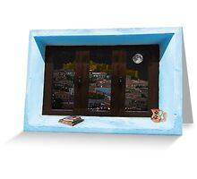 Window Into Greece 3 Greeting Card
