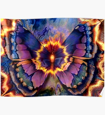 Celestial Butterfly Poster
