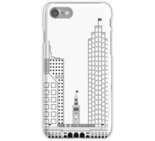 San Francisco skyline - Black and white version iPhone Case/Skin