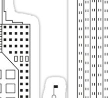 San Francisco skyline - Black and white version Sticker