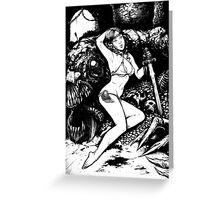 Pin up Slayer Greeting Card