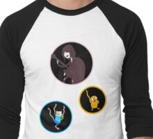 Party Time with Finn and Jake (And Marceline) Men's Baseball ¾ T-Shirt