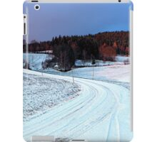 Country road through winter wonderland II | landscape photography iPad Case/Skin