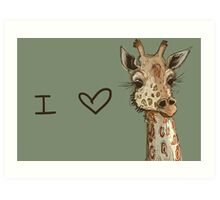 Lovely Lashes Giraffe Art Print