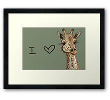 Lovely Lashes Giraffe Framed Print