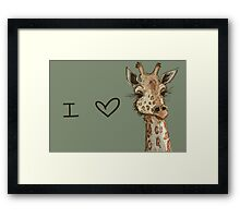 Lovely Lashes Giraffe Framed Print