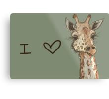 Lovely Lashes Giraffe Metal Print