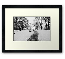 Alone with his Thoughts Framed Print