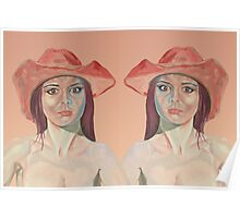 Red hat girl ( double ) Poster