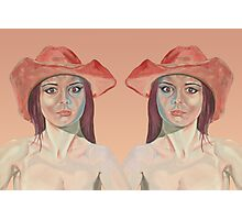 Red hat girl ( double ) Photographic Print