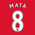 Juan Mata Number 8 Shirt by Aaron Pacey