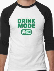 Drink mode on shamrock Men's Baseball ¾ T-Shirt