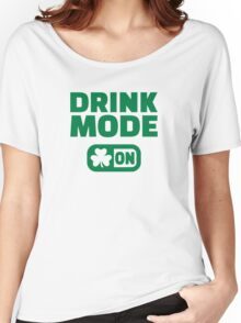 Drink mode on shamrock Women's Relaxed Fit T-Shirt