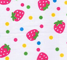 Red Strawberry fruit pattern by majuli1990