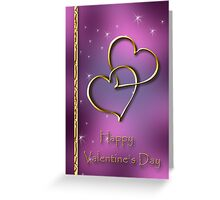 Two Hearts Valentine's Day Greeting Card