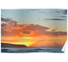 North Shore Sunset Poster