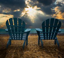 Evening Splendor at the Beach by Randall Nyhof
