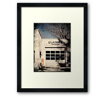 Slaters Garage Framed Print