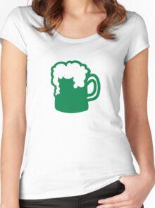 Green irish beer Women's Fitted Scoop T-Shirt