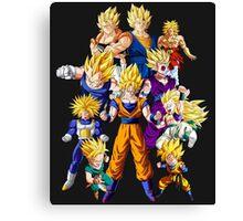 Dragon Ball Z All Star Super Saiyan - Goku, Vegeta & More Canvas Print