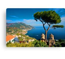 Italy. Amalfi Treescape Canvas Print
