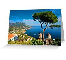 Italy. Amalfi Treescape Greeting Card