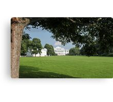 Meadow in front of the palace Canvas Print