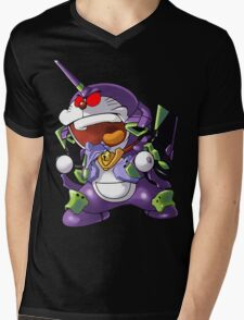 doraemon evangelion Mens V-Neck T-Shirt
