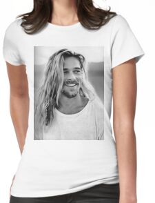 Brad Pitt Womens Fitted T-Shirt