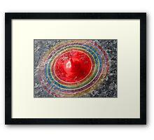 Coloured Spinning top  Framed Print