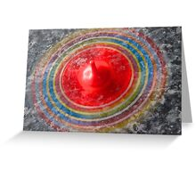 Coloured Spinning top  Greeting Card