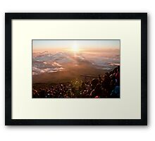 Peak of Mt. Fuji-san Framed Print