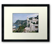 Italy, Capri overlook Framed Print