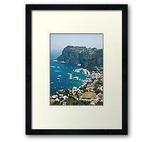 Italy, Capri Framed Print