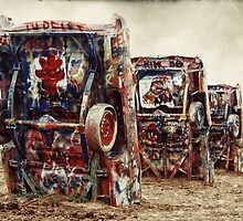 Cadillac ranch by Nick Barber