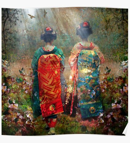 Geisha Walk Poster