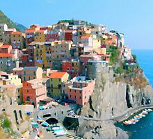 Italy. Cinque Terre - Cliffside by JessicaRoss