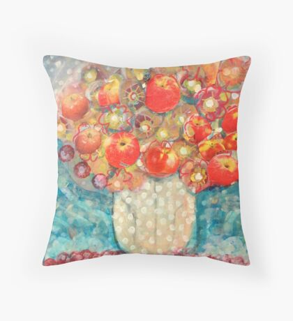 Apple Blossom Bouquet Throw Pillow