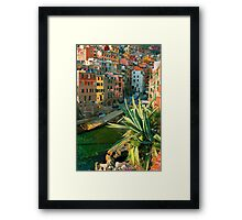 Italy. Cinque Terre - Canal side close up Framed Print