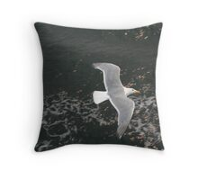"""Seagull in Seattle"" Throw Pillow"