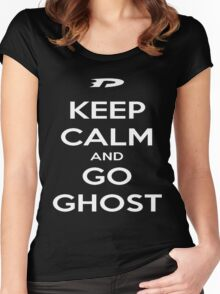 Keep Calm and Go Ghost Women's Fitted Scoop T-Shirt