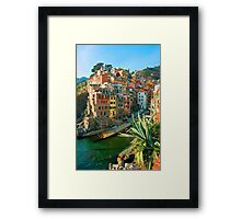 Italy. Cinque Terre - Canal side Framed Print