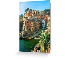 Italy. Cinque Terre - Canal side Greeting Card