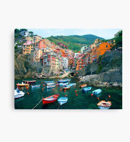 Italy. Cinque Terre marina  Canvas Print